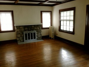 Homes for Rent Cleveland Heights Ohio on Kirkwood Rd fireplace