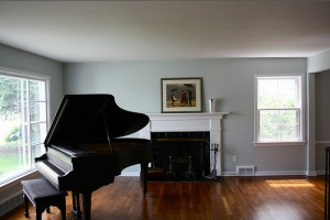 Homes for Rent Cleveland Heights, Ohio on Westover Rd piano living room