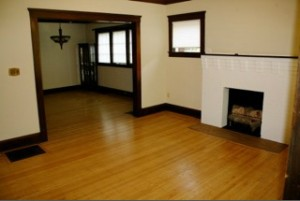 Homes for Rent Cleveland Ohio on Lake Avenue fireplace